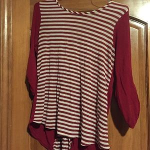 Women's large candy striped top